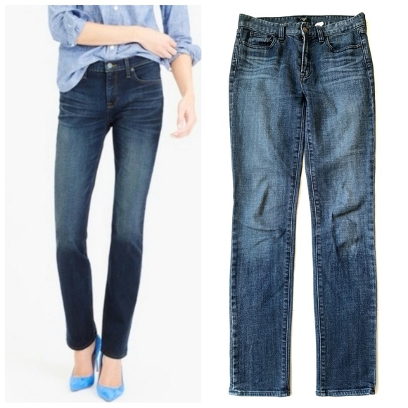 J. Crew Factory Denim - J Crew Straight Leg Midrise Stretch Jeans